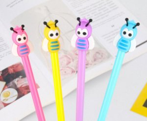 Hot Selling Gel Pen Wholesale 100pcs Lot Free Shipping New Creative Bee 0.5mm Neutral Pen Students Writing Tool StationerBP727 g4te#