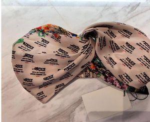 Hot brand Silk Elastic Heabands hair bands for Women High Quality Luxury Designer Floral headband Headwraps Bandanas Gift Drop ship C422