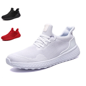 2020 Non-Brand men running shoes triple black white red gray mens trainer fashion sports sneakers size 40-46
