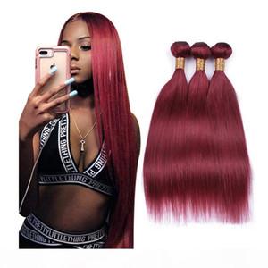 높은 품질 8A 브라질 스트레이트 인간의 머리카락 weaves burg 컬러 헤어 확장 8-40inch 100g 조각 100 % 인간의 머리카락