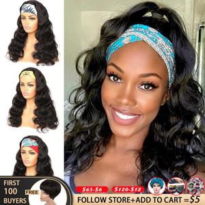 Beden Dalga Peruk Siyah Kadınlar Için Brezlian Remy Tam Makine Doğal Renk Kafa Peruk İnsan Saç