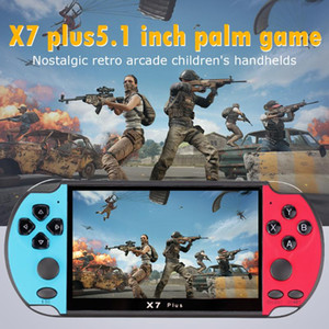 X7 Plus Video Game Console 5.1inch Handheld Game Player Portable Retro Console 8GB Double Rocker Game Console for Kids