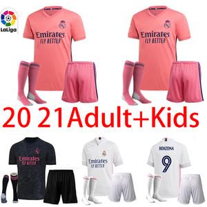 20 21 fans Version réelle DANGER VALVERDE de football Madrid RODRGO 2020 de camiseta 2021 VINICIUS ASENSIO Maillot de foot adulte + enfants chaussettes kit