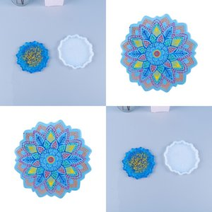 Epoxy Resin Silicone Molds Sun Flower Tea Cup Bracket Mat Moulds Household Fashion Flowers Mould New Arrival 9 2bc P2