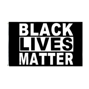 Black Lives Matter Blue Drapeau Drapeau Direct Factory en gros 3x5FTS 90CMX150CM Blm Protest Je ne peux pas respirer la bannière américaine