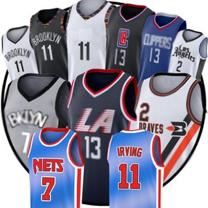 7 Kevin Durant Jersey Irving 2 Kawhi Paul Leonard 13 George BrooklynNet Kyrie LosAngelesLos AngelesClippers basketbol Formalar zz