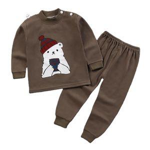 Cartoon Newborn boys Clothes cotton set 0-2year Kids Baby Girl Toddler suit soft pajamas bebes Q0109