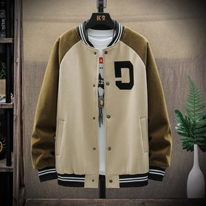 20FW Autumn Men's Jacket New Trend Baseball Collar Color Matching Jacket Fashion Casual Sports Jacket 3 Colors Size M-5XL