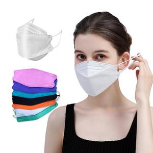 KF94 Maske Toz Geçirmez ve Nefes Tüm Yuvarlak Koruma Yüz Maskesi Söğütlü FFP2 KN95 Maskeleri DHL Nakliye