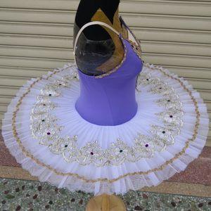 Professional Ballet Tutu Swan Lake Lake Purple Dance Costume Pancake Girls Classica Ballet Tutu Leotard Ballet Dress Ballet per bambini
