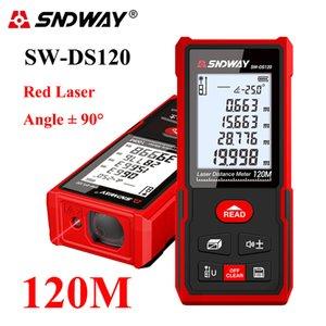 SNDWAY LASER DISION METER Цифровой диапазон Finder 40-120 м Лазерный дальномер измеритель Электронной ленты Трена Лазерный счетчик T200603