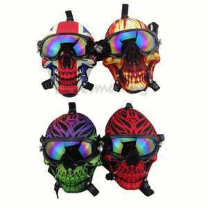 Gas Mask Bong Silicone Water Pipe Skull Mask Pipes With Sun Glasse Oil Rigs Oil Burner Multifounctions Smoking Dab Rig Hookah Kxjgc