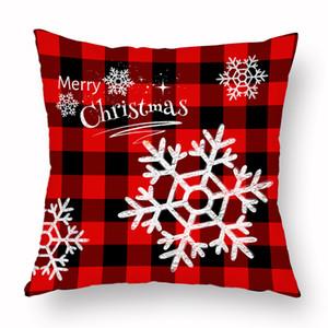 Noel Yastık Kılıfı Ekose Merry Christmas Yastık Örtüleri Noel ağacı Geyik Kamyon Yastık Ev Partisi Dekoratif 16 stilleri GWA2274