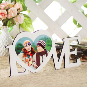 HDF Pictures Wooden Sublimation Blank Paintings Board LOVE Heart Shape Ornament Supports Scratch Resistant Whites 10 93xm L2