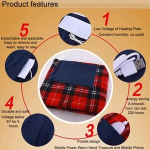 5V USB Electric Heated Blanket Car Office Use Warm Blanket Heater Bed Warmer Pad 88*65cm Heating Vest For Camping Hiking