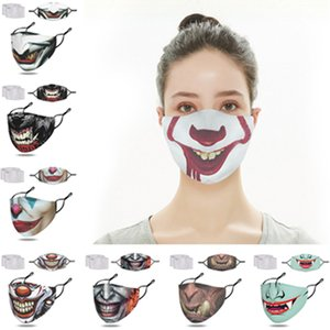 com 2 filtros Adulto máscara de palhaço rosto designers de máscaras de moda esqueleto Mouth máscara festa de Natal do Dia das Bruxas diabo engraçado Máscaras F102304