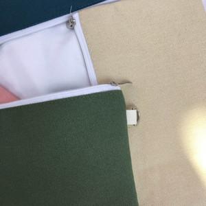 البساطة فارغة قماش زيبر قلم رصاص حالات القلم الحقائب القطن مستحضرات التجميل حقائب ماكياج أكياس للهاتف المحمول الفاصل حقيبة 11 الألوان AHD2185