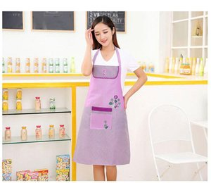 1PC New Lady Woman Apron Home Kitchen Chef Aprons Restaurant Cooking Baking Dress Fashion Apron With Pockets OK 0920