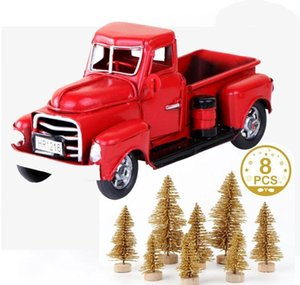 Truck Year Tree Tree Decoration Metal Merry Red New Christmas Pine And Model Mini Decor Christmas Car Table Fake Gifts bbyhJ yh_pack