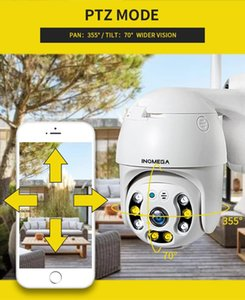 INQMEGA 1080P PTZ Dome Camera Outdoor Cloud Storage Wireless Camera IP66 Waterproof Night Vision Full Color