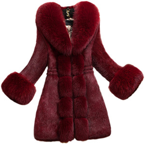 XXXXL Frauen Fur Coats Mode Slimfit Plus Size-Winter-warme Faux-Pelz-Jacke für Frauen 2021