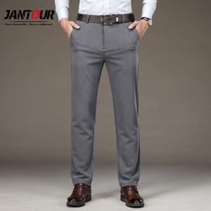Men's Autumn Winter Fashion Business Casual Long Pants Suit Pants Male Elastic Loose Straight Formal Trousers Big Size 29-35 40 0930