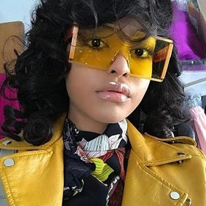 Square Frameless Sunglasses Ladies Brand Designer Flat Top Big Sunglasses Super Large