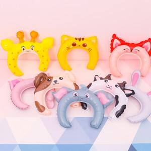 Sevimli Tavşan Kulakları Hairbands Şişme Balon Kafa Bantları Sevimli Saç Sopa Yaratıcı Parti Hediyeler Hayvan Fil Kedi Sis Köpek Domuz DHF3992
