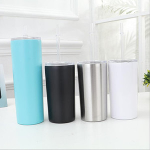 DIY Heat Sublimation Skinny Tumbler Stainless Steel Thermos Cups Vacuum Insulated Straw Cup Beer Coffee Mugs free fast Sea Shipping HWC3423