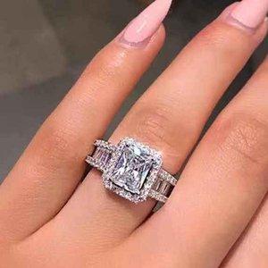 2020 designer wedding engagement ring valentine gift diamond ring luxury ladies ring