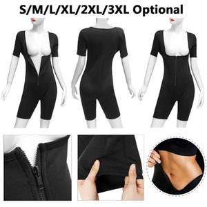 Sweat Neoprene Women Full Body Shaper Bodysuit Shapewear Suit Regular Size Zip