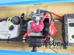 G26IP1 Artr-Rc fibra de vidro 26cc velocidade de corrida de gasolina RC Barco w / hélice / sistema de refrigeração de água / sistema de rádio azul thzh0072
