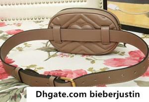 476434 18cm Marmont matelassée en cuir Sac ceinture, sac de taille, haut en cuir Fermeture, Zip Doublure, viennent avec la boîte sac à poussière