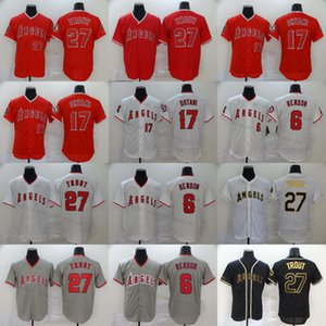 2020 NK Season Baseball 27 Mike Trout Jerseys Stitched 6 Anthony Rendon S-4XL Gold White Black Red Gray Jerseys All Stitched Best Quality