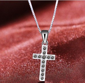 Sterling Silver Symbol of Faith Dangle Pendant Charm Bead with CZ Fits European Pandora Jewelry Bracelets & Necklacesps2059