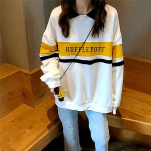 Hoodies Women Winter Leisure Polo Collar Harajuku Tops Women Pullover Students Letter Long Sleeve Kpop Sweatshirt sudadera mujer