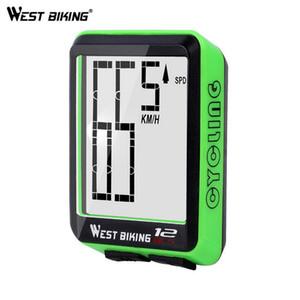 WEST BIKING Rainproof Bike Computer Multifunction LED Digital Rate MTB Bicycle Speedometer Wireless Cycling Odometer Computer Stopwatch XE57