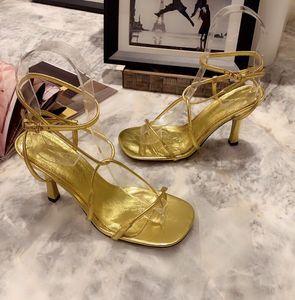 2021 Summer Women Flip Flops Sandals Nature leather Round Toe Ankle Strap Gladiator Sandals Fashion Party Dress Pumps Shoes