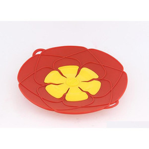 Sile Lid Spill Stopper Sile Cover Lid For Pan Cooking Tools Flower Cookware Parts Kitchen T jllQDD jjxh