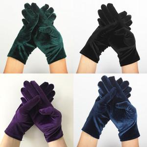 Повелительница Пять пальцев перчатки Мульти чистые цвета ручной работы Вязание Бархатные Анти Холодные женщин Полуперчатки Открытый езды Keep Warm Gloves 1 8zy L2