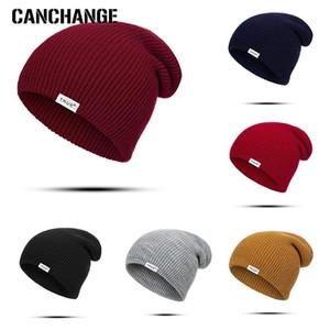 Moda de punto sombrero Gorros Skullies de la Mujer caliente del invierno sombreros de colores Tapas de esquí al aire libre de la gorrita tejida de los hombres Gorras Unisex