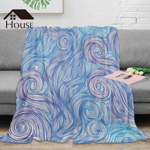 BIGHOUSES Manta abstracta manta Lanza Arte Caliente microfibra 7xvg #