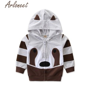 ARLONEET cartoon coats newborn baby boys winter coat Cotton animal hooded Jacket zipper outerwear 2019 baby coat girls outerwear F1221