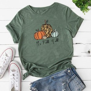 Pumpkin Printed T Shirt Halloween Women Short Sleeve O-neck T-shirt Femme T-shirts Loose Female Plus Size Women Clothing Ropa1