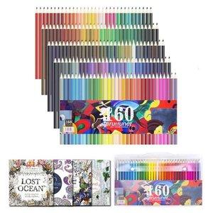 160 Renkler Profesyonel Renkli Kalemler Kroki Çizim Sanatçı Ahşap Su Renkli Kalem Okul Sanat Malzemeleri için Set 201223