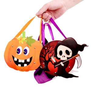Bolsa de dulces de Halloween Bolsa de regalo encantadora Caja de caramelo Regalo de Halloween Bolsos de caramelos Divertidos Bolsos mullidos Tote para niños Festival K807