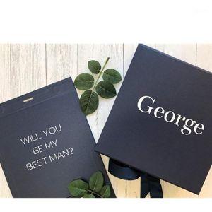 Caixa de presente da proposta do melhor da marinha personalizada com nome, costume você será minha melhor caixa de homem, caixa de presente de luxo da marinha de luxo, 1
