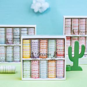100 Stück / Set Traum Line Serie Dekorative Washi Klebeband Japanische Papieraufkleber Scrapbooking Vintage-Adhesive Washitape Stationary 201009