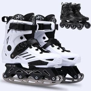 Коньки Обувь Мужчины Женщины Инлайн Роликовые коньки Обувь взрослых Роликовые кроссовки Профессиональный Ice