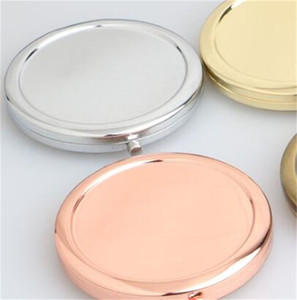 Trucco mano Specchi estetica compatta multicolore fai da te Specchio rotondo Piegare Originalità piccolo regalo Solid base metallica 4 3RL M2
